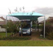 Abri camping car ouvert c3 / structure en acier / toiture arrondie