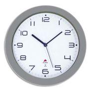 Alba horloge murale radio pilotée hornewrc grise en métal - diamètre 30 cm