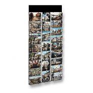 Présentoir mural pour carte postale 105 x 150 mm