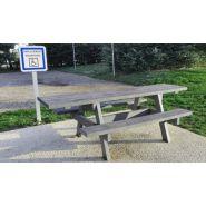Table de pique-nique parc pmr / accessible pmr / plastique-composite / 240 x 140 x 82 cm / livrée montée ou prémontée