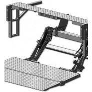 Te-25dc - hayon élévateur - maxon - plate-formes en acier, acier/aluminium ou aluminium