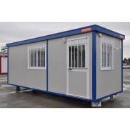 Construction modulaire A15 / bureau / vestiaire / porte / fenêtre