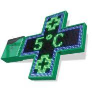 Croix verte & bleu - enseigne pharmacie - enseignes & lumières