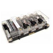 Transformateur de courant triphasé monobloc double rapport type microbloc