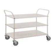 CHARIOT DE SERVICE AVEC 3 TABLETTES