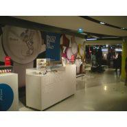 Citadium - Comptoir pour magasin - A4 Inside - Stratifié blanc avec lettrag