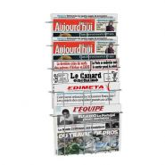 Porte journal mural 5 case economique