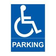 4280164 - Panneau place handicapé - HANDINORME - Dimensions : 150 mm x 210 mm