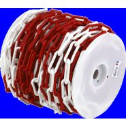 Chaîne Ø 8mm x 37,5m Rouge/Blanc en bobine - SIGNAL - 1185029