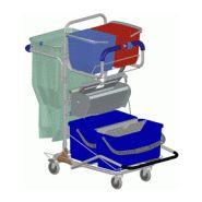 Chariot de nettoyage avec presse à pédale 600537