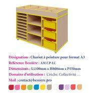 CHARIOT À PEINTURE POUR FORMAT A3