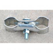 Collier galvanisé pour assemblage de 2 poteaux - Fixation pour clôture - Combes - Poids 0.4 kg
