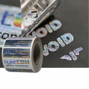 Etiquettes void holographique quadri