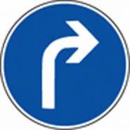 Panneau de signalisation - obligation de tourner a droite