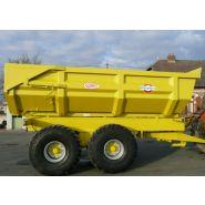 Remorque travaux publics 18 TP 2007 Hardox 450 - Delaplace - Charge utile (T) : 18