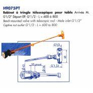 H9075PT - Robinet de laboratoire - LABOTHERM - A tringle télescopique pour table