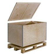 Caisse-palette en bois pliante réutilisable ribox r61/p4