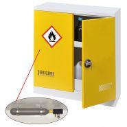 Armoire de sécurité avec extincteur automatique - stockage 150l - inflammable