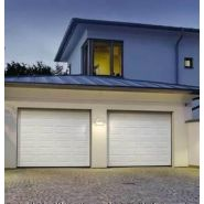 PORTE DE GARAGE SECTIONNELLE CLASSIC TYPE SMART 42 HAUT.2,125M LARG.2,40M COLORIS BLANC