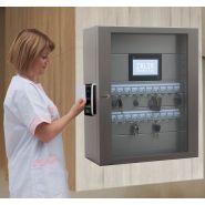 TraKey - Armoire électronique de gestion des clefs - ZALIX Biométrie - Porte vitrée anti-effraction