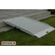 Pff 2500f - rampe de trottoir - e-stahl - dimensions : 800 x 2500 mm