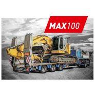 Max100-n-2a-8.60 - semi remorques porte-engins - 4500mm