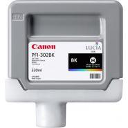 CARTOUCHE D'ENCRE CANON PFI-302BK NOIR PHOTO IPF 8100/9100 2216B001 330ML