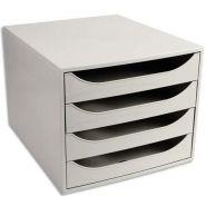 Neutre module de classement eco 4 tiroirs, gris - dim. : l28,4 x h23,4 x p34,8 cm