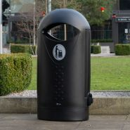 Ellipse - poubelle publique - glasdon - 63 litres