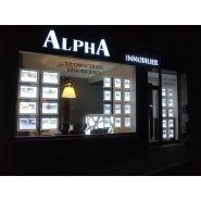 Cristal - porte affiche led - displaylight - paysage a4
