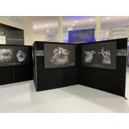 Panneaux d'exposition multifonctionnels - Clip expo - Ultra-légers (4 kg pour un panneau de 1 x 1 m)