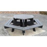Table de pique-nique gala / plastique-composite / polygonale / 228 x 79 cm / livrée démontée