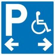 HAN4100 - Panneau place handicapé gauche/droite - Jr signaletic - Adhésif 400x400 mm