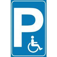 Panneau place handicapé - Alstar management - Matériau : composite aluminium 3mm