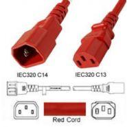Câble d'alimentation C13/C14 15A ROUGE