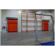 Porte rapide 640NG Freez 1&2 / souple / en plastique / utilisation intérieure / 6000 x 4750 mm