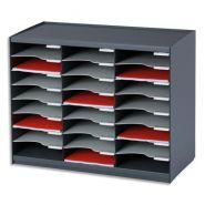Paperflow trieur 24 cases noir gris pour document a4
