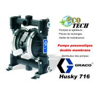 Pompe husky 716 pompes à membrane à commande pneumatique distributeur normandie