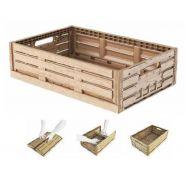 Bac pliable apparence bois - 40 x 30 et 60 x 40 cm - hauteur 16,3 à 21,3 cm