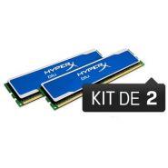 BARRETTE MÉMOIRE 4 GO MODULE HYPERX BLU (KIT 2X2 GO) - DDR3 1600 MHZ