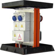 VM06 - Borne de distribution d'energie - Aloes red - 6 prises avec dispositif de verrouillage (max 32A) et protection générale max 63A standard