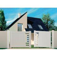 PORTAIL PVC BATTANT MACON JARDIMAT BLANC L. 3 M, H. 1,4 M