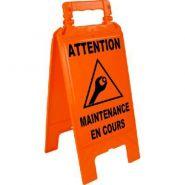 CHEVALET DE SIGNALISATION MAINTENANCE EN COURS ORANGE FLUO NOVAP