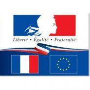 """Plaque """"liberté égalité fraternité"""" pour établissements publics"""