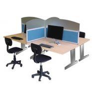 Cloisons de bureaux et cloisonnette kalm acoustique pour plateau de travail ou open space