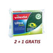 EPONGES VILEDA ULTRA-FRESH AVEC GRATTOIR X 3 UNITÉS