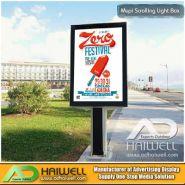 9405600000 - Caisses lumineuses à défilement dégrossi de rue extérieure avec système de défilement SPDE - Haiwell advertising industrial - Taille : 1,2 m x 1,8 m