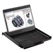 """W119 - tiroir console lcd 19"""" vga , dvi-d écran large rackable"""