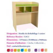 MEUBLE DE DÉSHABILLAGE 3 CASIER SANS PORTES
