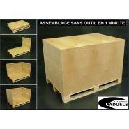 Caisse palette assemblage rapide 1200x1000x650